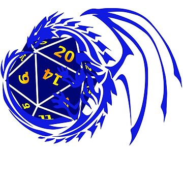 Dungeons and Dragons - Blue and Dark Blue! by Fuzzyketchup