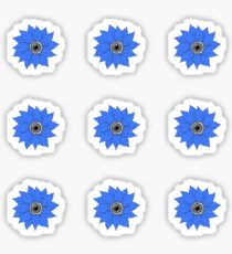 Small Sunlowers - Blue Sticker