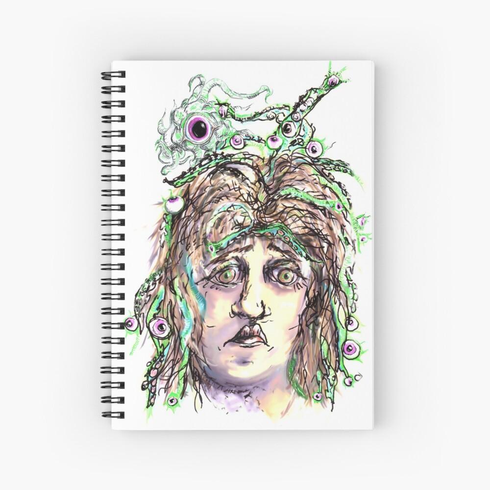Alien Cephalopod Bad Hair Day Spiral Notebook