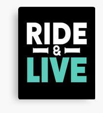 Motorcycle Bike Ride & LIve Canvas Print