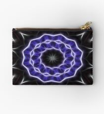 Blue Purple Black kaleidoscope  Art 1 Studio Pouch