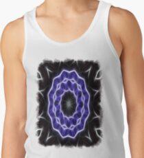 Blue Purple Black kaleidoscope  Art 1 Tank Top