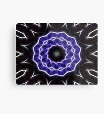 Blue Purple Black kaleidoscope  Art 1 Metal Print