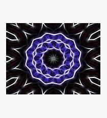 Blue Purple Black kaleidoscope  Art 1 Photographic Print