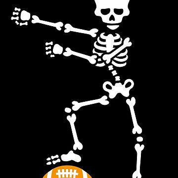 American football floss dance flossing skeleton by LaundryFactory