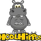 HodlHippos with logo merchandise by cryptotoons