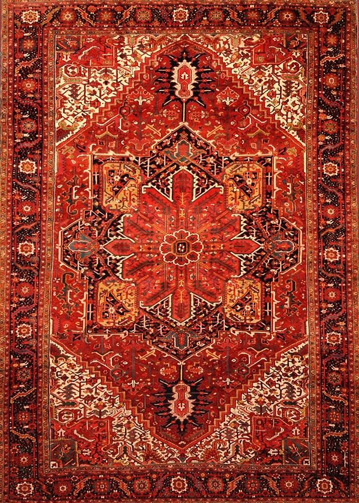 Quot Antique Persian Rug Red Black Carpet Pattern Quot By Vicky