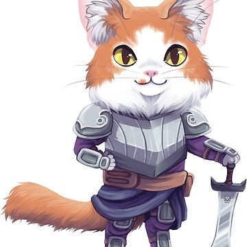Leon the Domestic Longhair Paladin by OhSweetie