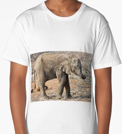 Hungry Baby Elephant -  THE AFRICAN ELEPHANT – Loxodonta africana Long T-Shirt