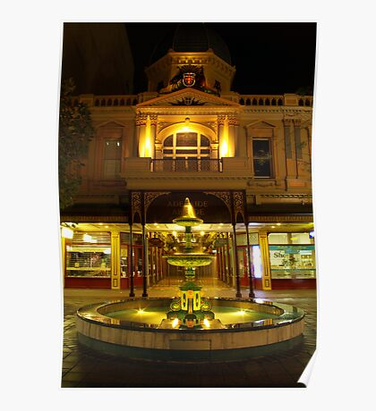 Rundle Mall Fountain, Adelaide. Poster
