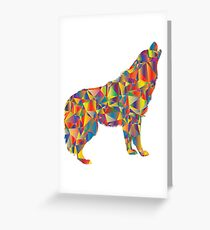 Wolf Colours Greeting Card