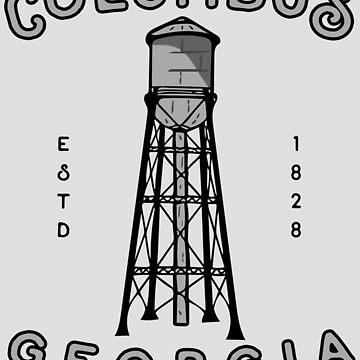 Columbus Georgia Hand Drawn Water Tower Logo by JakeRhodes