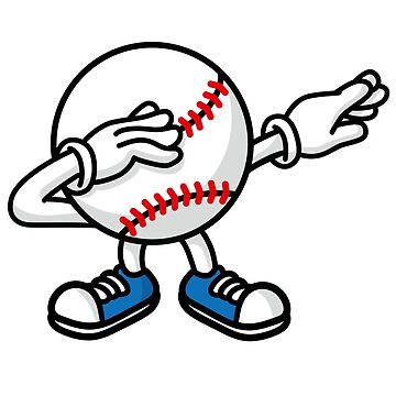 Dab dabbing baseball softball ball by LaundryFactory