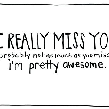 Funny I Miss You Card- Missing You Card- I Really Miss You by travelingpoppy