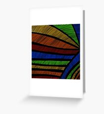 Rainbow Lines Abstract Art Greeting Card