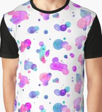 Spots and Drops - Bright pink and blue Graphic T-Shirt