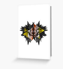 3D Abstract - The Urchin Greeting Card