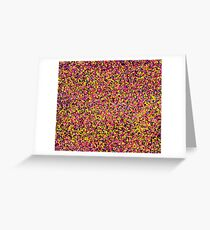 Colorful Rainbow Abstract Painting Dots Pink Black Lime Green Blue Orange Colors Greeting Card