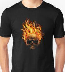 Camiseta unisex Calavera en llamas