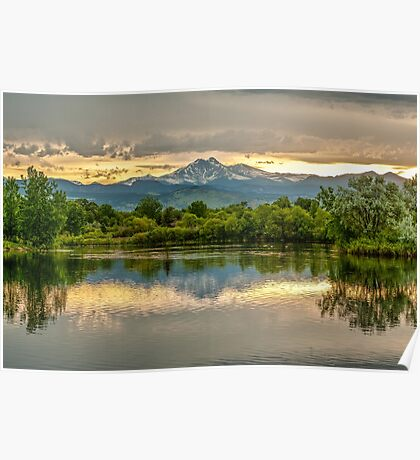 Golden Ponds Reflections - This Is A New Image Poster