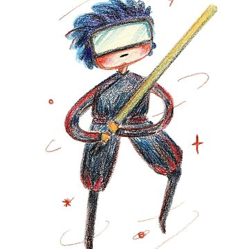 boy fighter with light saber by daolinh