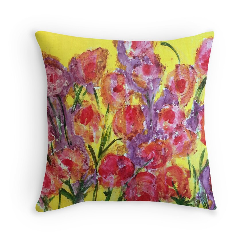 Large Yellow Throw Pillow :