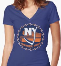 Deadly NY Hockey Women's Fitted V-Neck T-Shirt