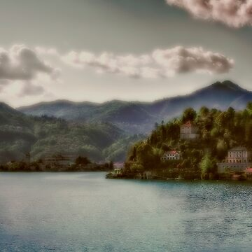 Mountains view at Lago d'Orta by birba