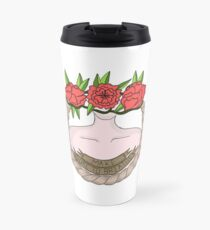Make Sure To Breathe Floral design Travel Mug