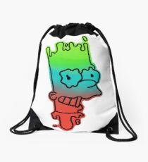 Trippy Bart Drawstring Bag