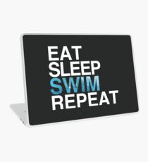Eat Sleep Swim Repeat Laptop Skin