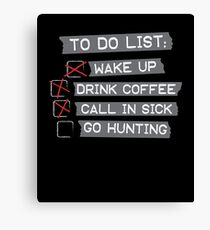 Hunting To Do List Canvas Print