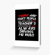There Their They're Driving Me Nuts Funny Grammar T-Shirt Greeting Card