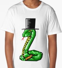 Snake with a top hat Long T-Shirt