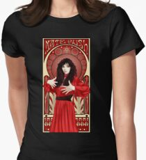 Kate Bush Illustration Tailliertes T-Shirt für Frauen