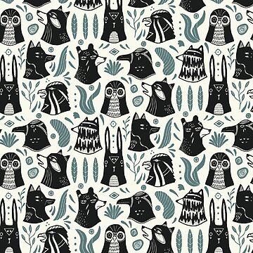Plants & Animals Pattern by Mangeshig