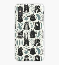 Plants & Animals Pattern iPhone Case