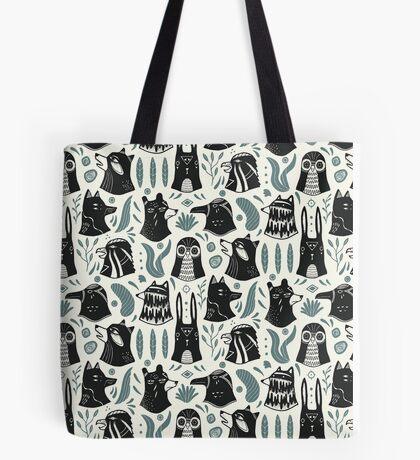 Plants & Animals Pattern Tote Bag