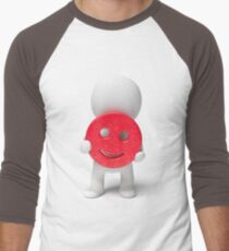 happiness is in your hands Men's Baseball ¾ T-Shirt