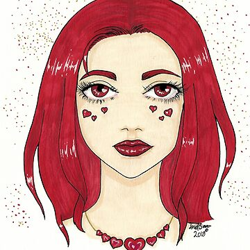 red heart by Hardsara