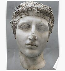 Roman or Greek Marble Bust of Youth Poster