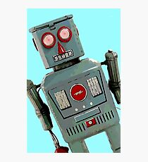 Wide Eyed Robot Photographic Print