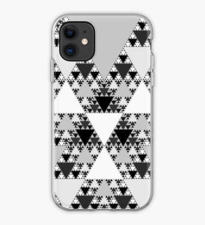 Monochrome, Sierpinski Triangle 004 iPhone Case
