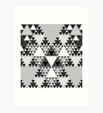 Monochrome, Sierpinski Triangle 004 Art Print