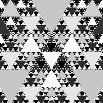 Monochrome, Sierpinski Triangle 004 by rupertrussell