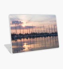 Softly - God Rays and Yachts in Rose Gold and Amethyst Laptop Skin