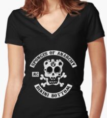 Sponges Of Anarchy Women's Fitted V-Neck T-Shirt