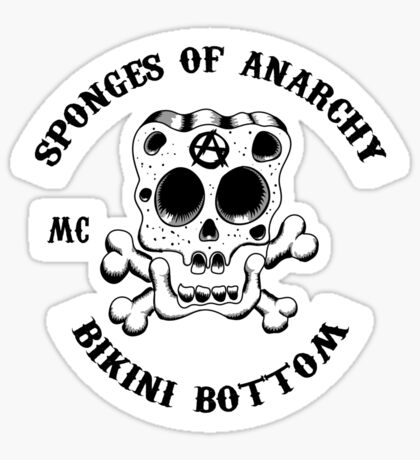 Sponges Of Anarchy Sticker