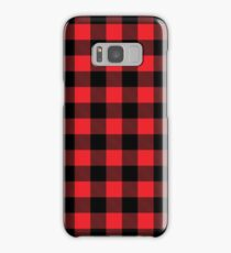 Buffalo plaid in red and black.  Samsung Galaxy Case/Skin