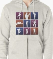 Emotes for everyone! Zipped Hoodie